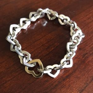 Tiffany & Co silver and Gold heart bracelet